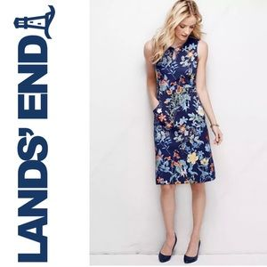 Lands' End Women's Ponte Keyhole Sheath Dress- 4P